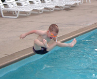 Howard in the Radisson Pool